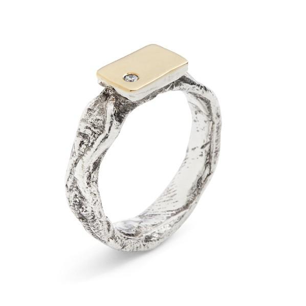 Brilliantly Odd Silver w. 14kt Gold