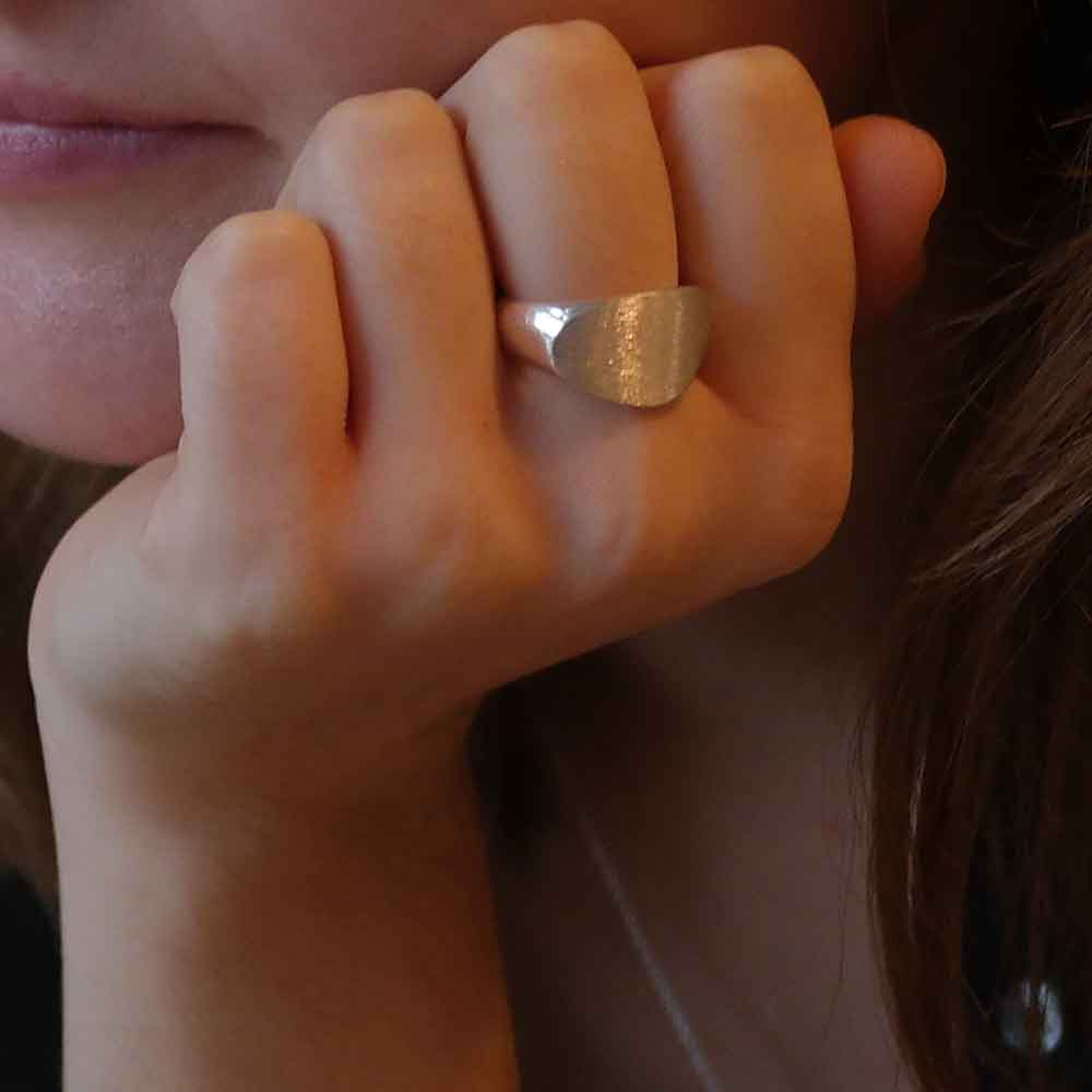 Continent Signet Ring Silver