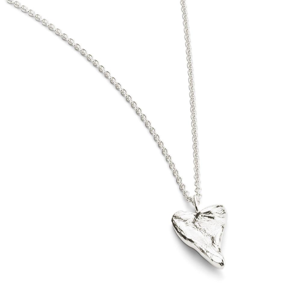 Heart Medium Necklace Silver
