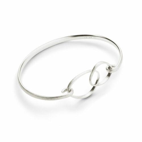 Triangle Loop Bracelet Silver