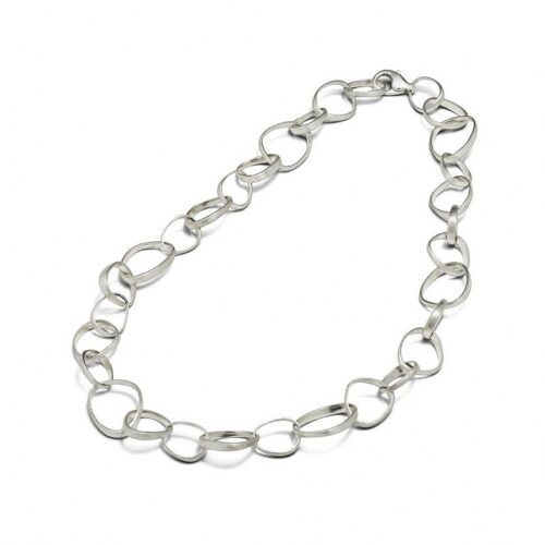 Triangle Chain Necklace Silver