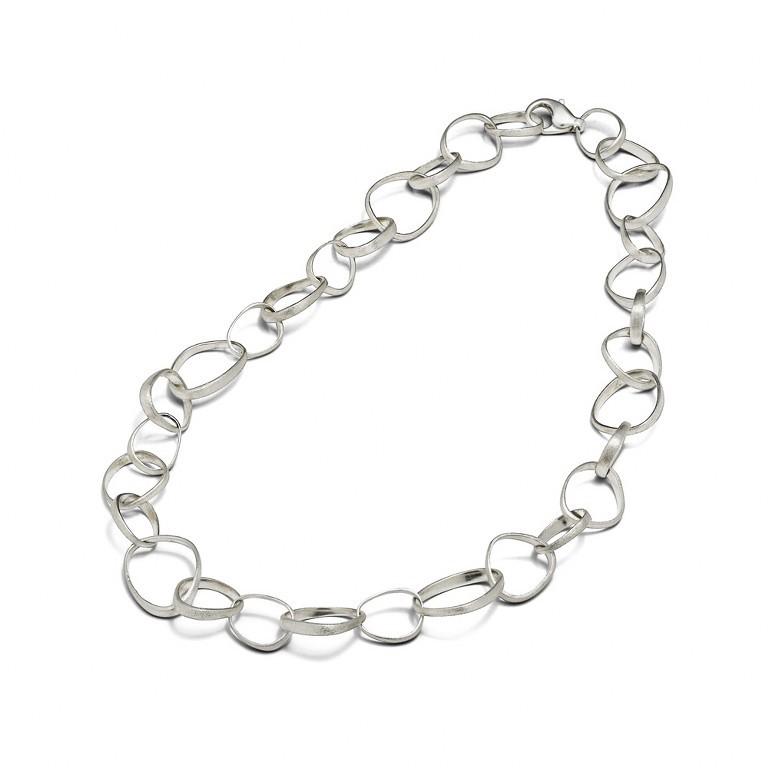 Triangle Chain Necklace Silver