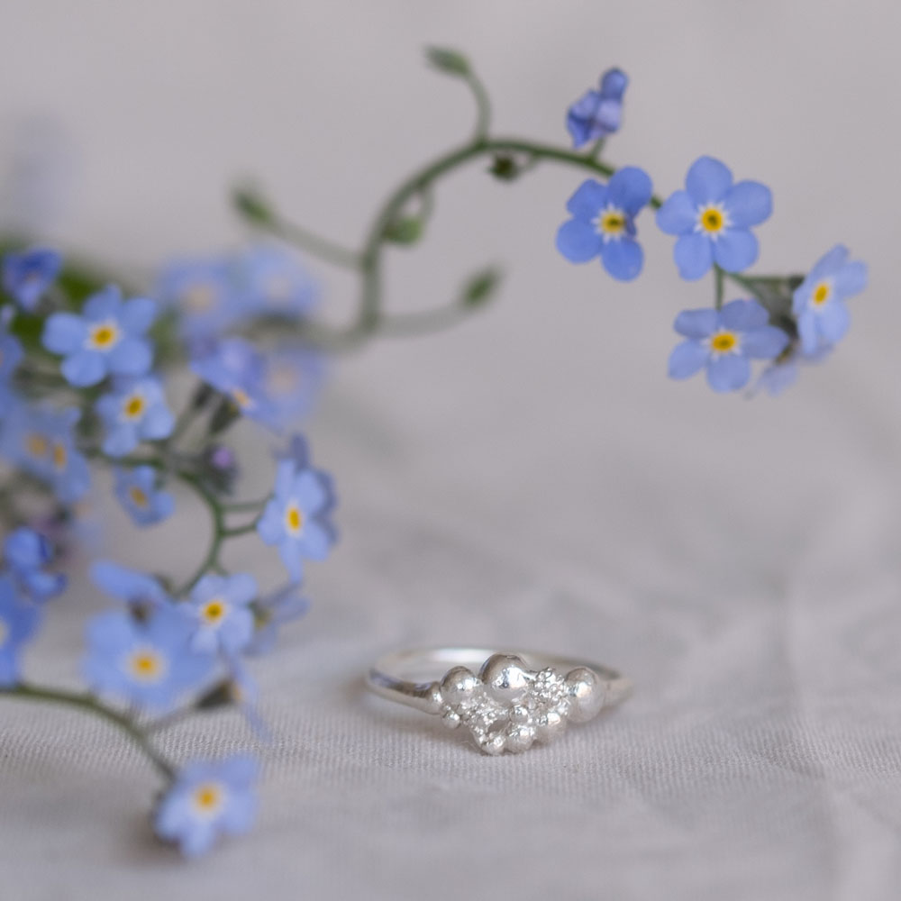 Blossom Ring Small Silver