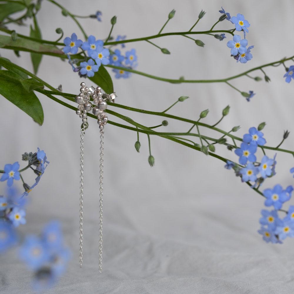 Blossom Stick Chain Silver
