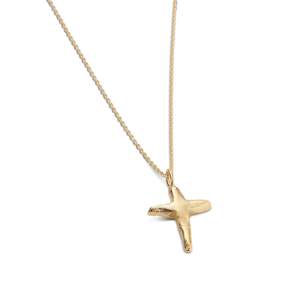 Cross Necklace Gold Plated