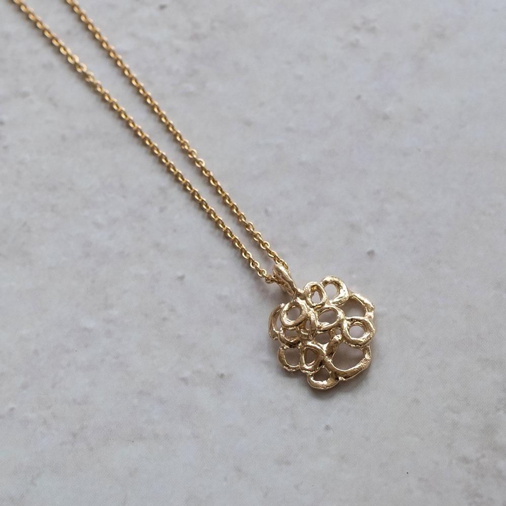 Bubble Necklace 14kt Gold