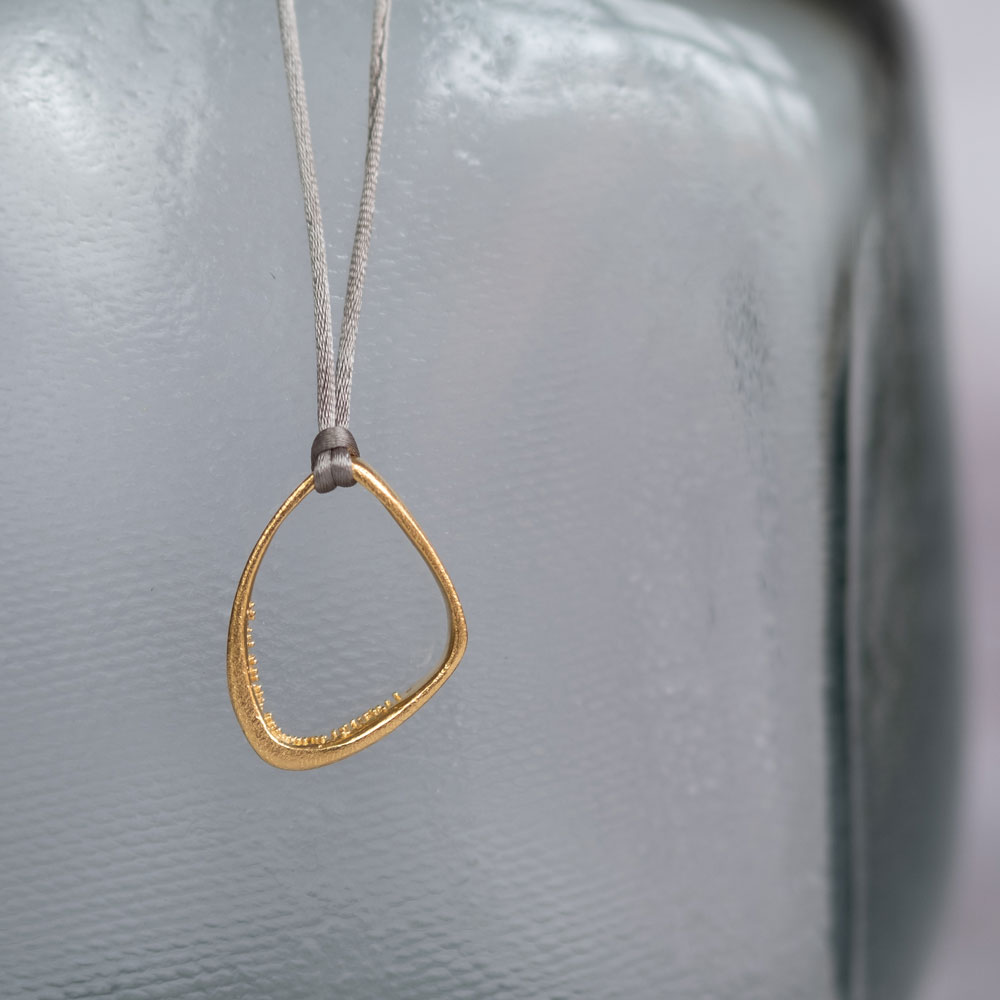 Triangle Cave Necklace Gold Plated