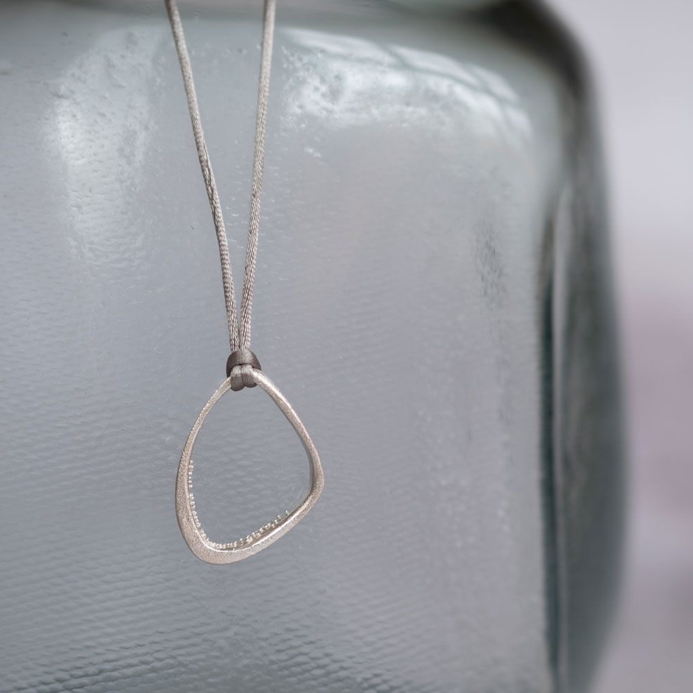 Triangle Cave Necklace Silver