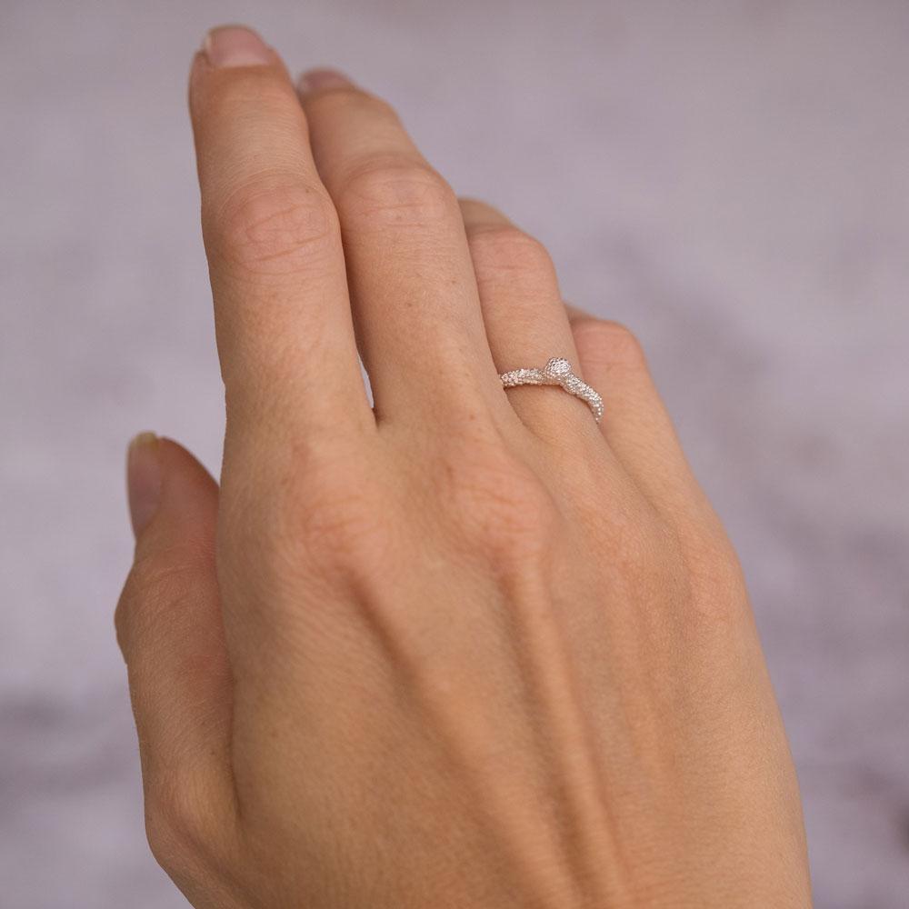 Sparkling Princess Ring Silver
