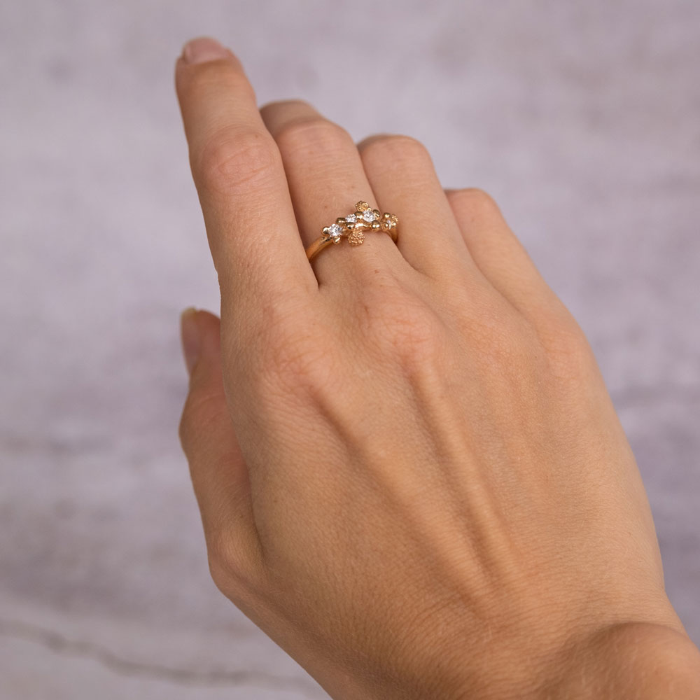 Twinkle Ring Diamond 14kt Gold