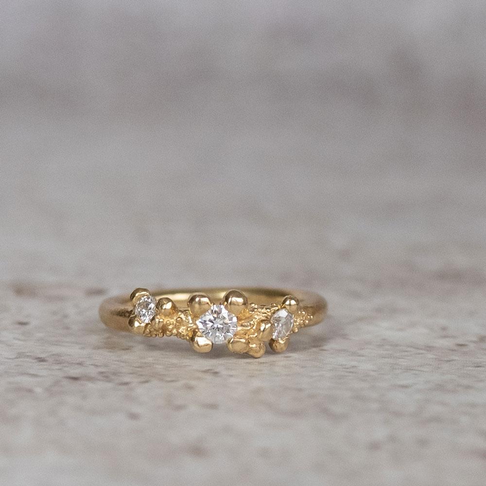 Twinkle Diamond 3 Stone Ring