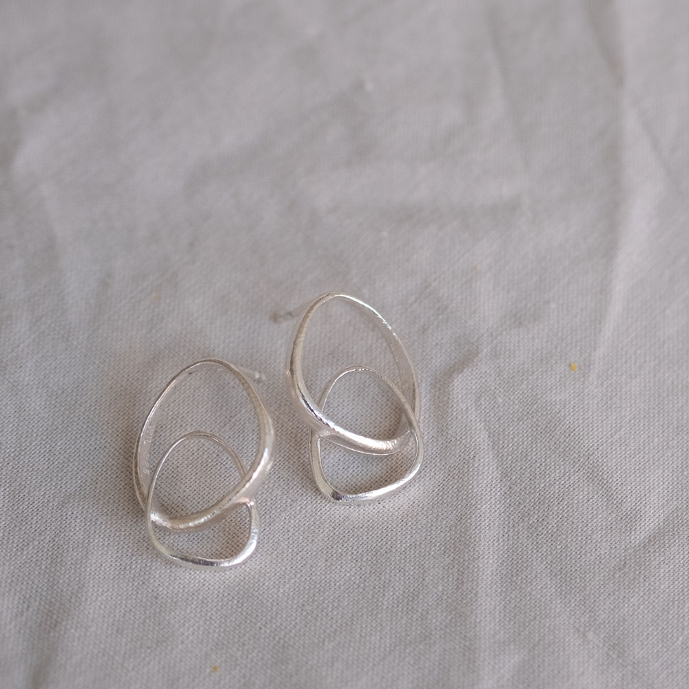 Triangle Loop Silver