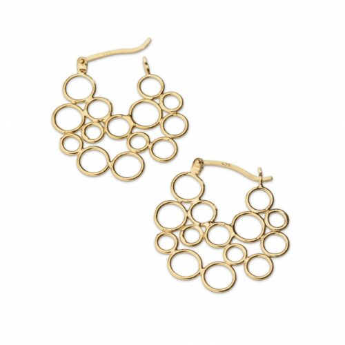 Circles Hoop Gold Plated