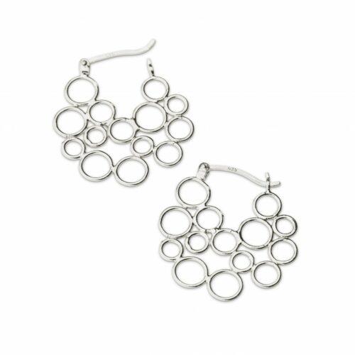 Circles Hoop Silver