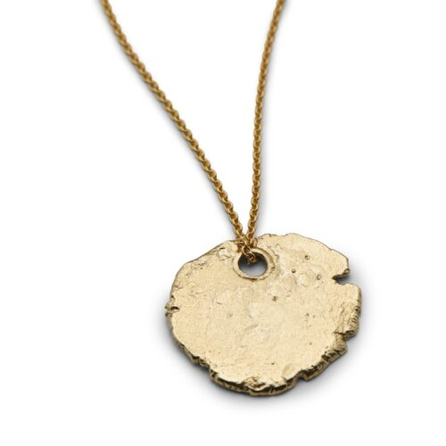 Continent Circular Tag Gold Plated