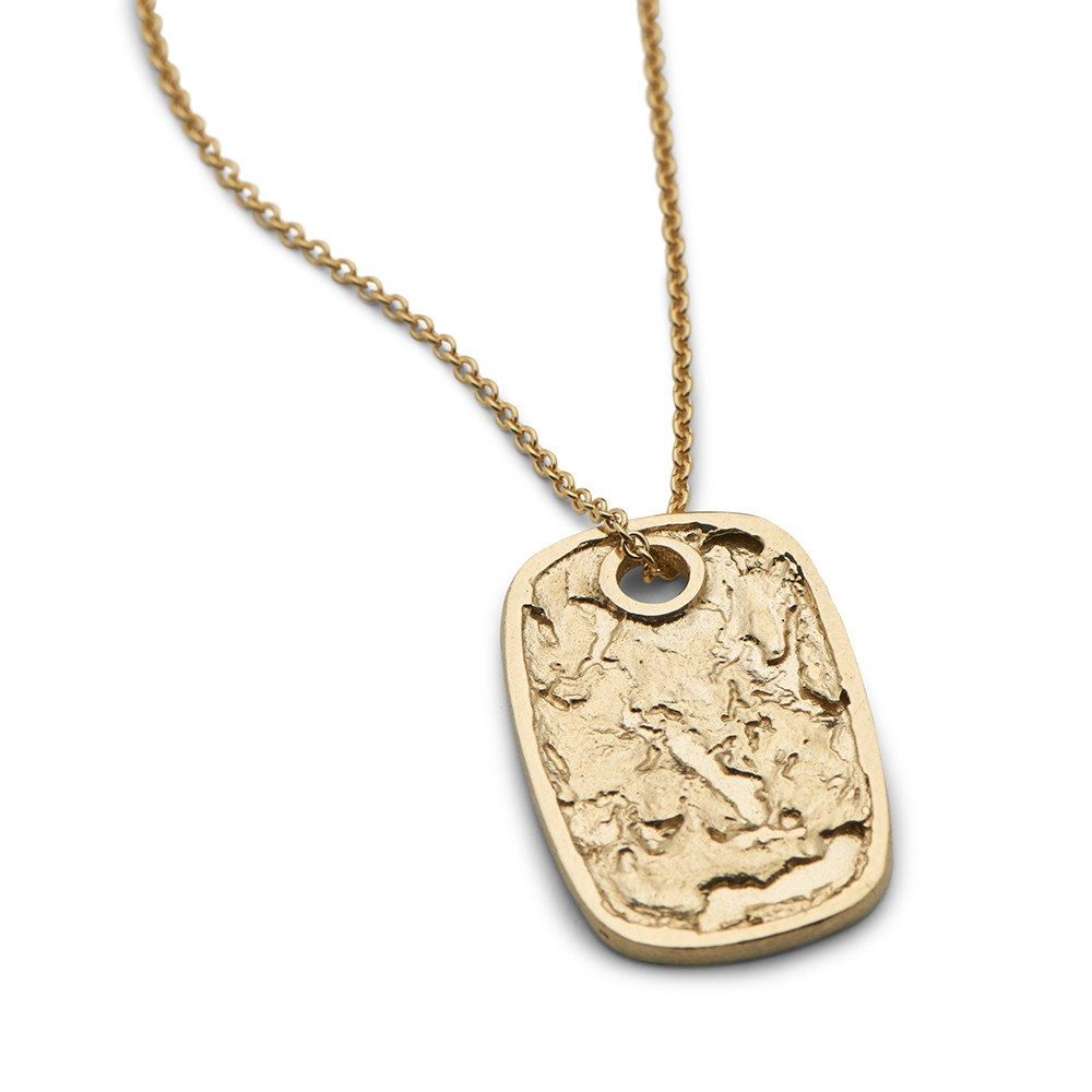 Continent Tag Gold Plated