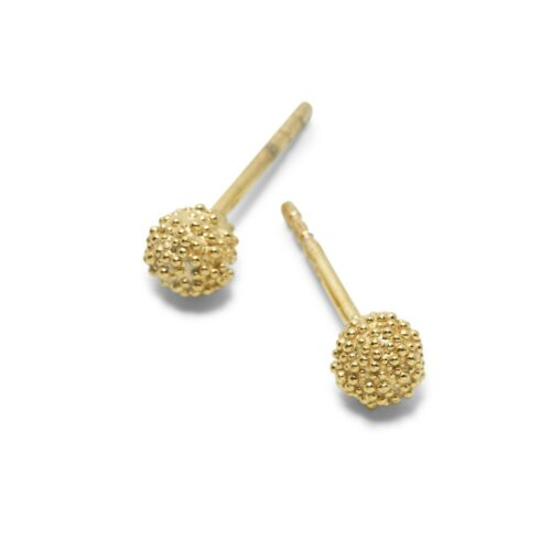 Fuzzy Snowball Gold Plated
