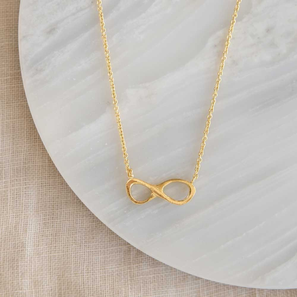 Infinity Necklace Gold Plated
