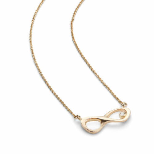 Infinity Necklace Gold Diamond
