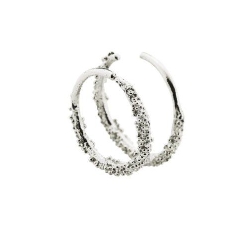 Sparkling Hoop Medium Silver