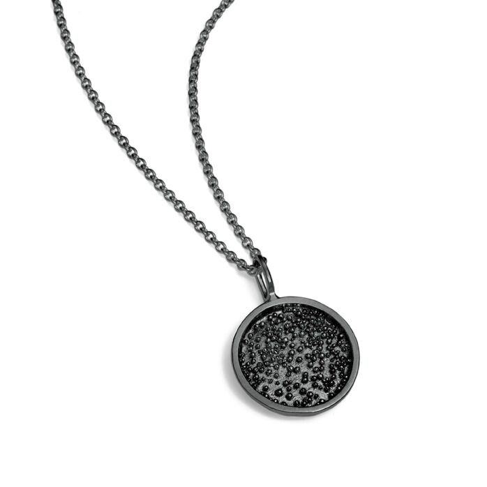Sparkling Nest Necklace Oxidised Silver