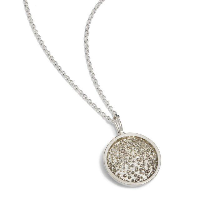 Sparkling Nest Necklace Silver