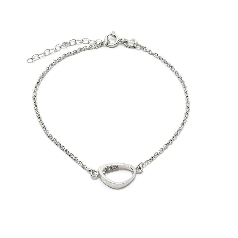 Triangle Cave Bracelet Silver