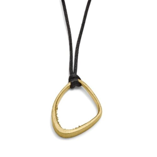 Triangle Cave Necklace 14kt Gold