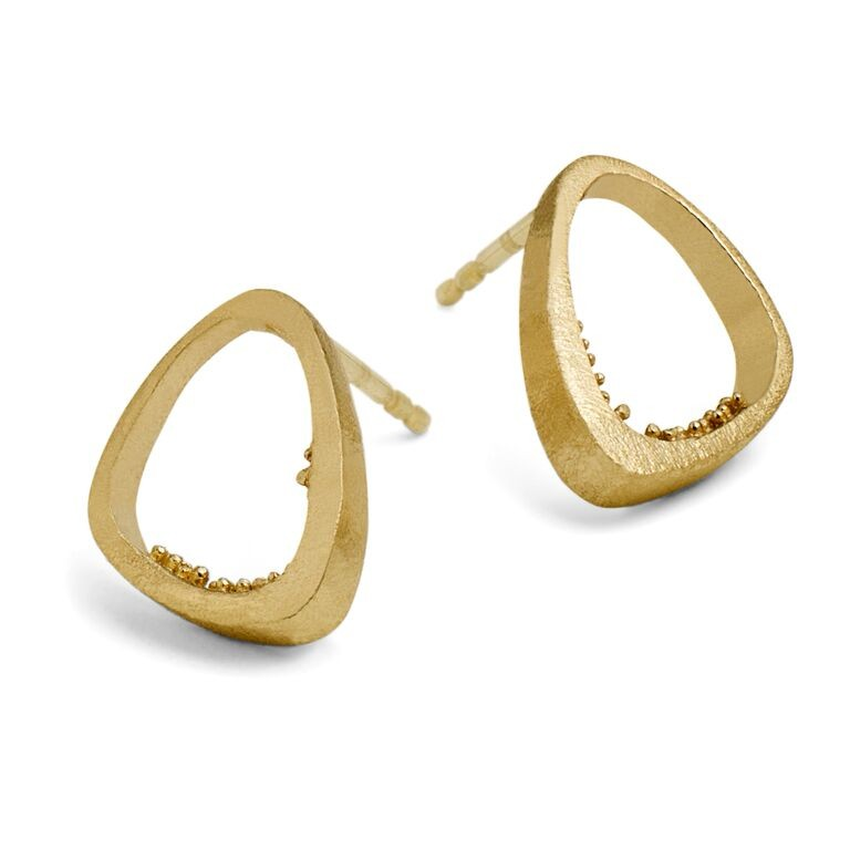 Triangle Cave Ørering Gold Plated