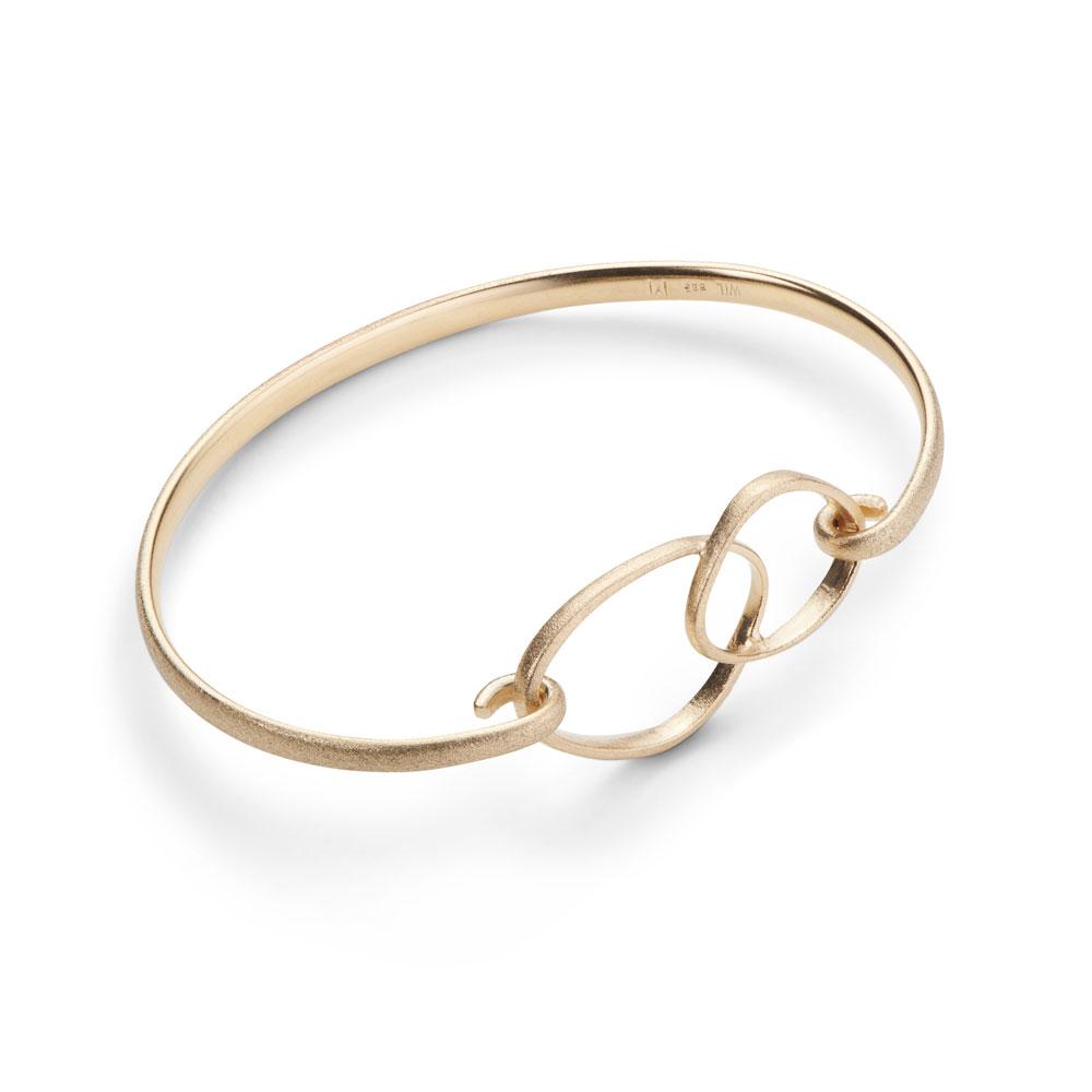Triangle Loop Bracelet 14k Gold