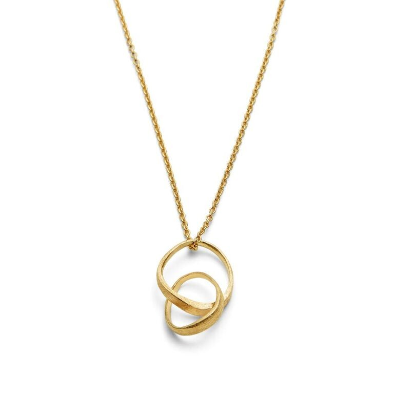 Triangle Loop Necklace Gold Plated