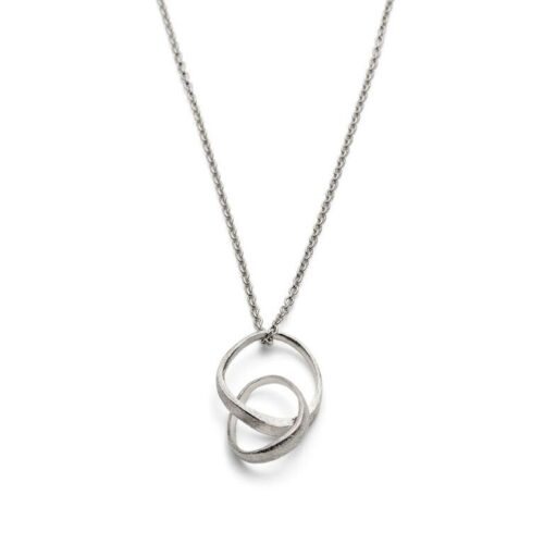 Triangle Loop Necklace Silver