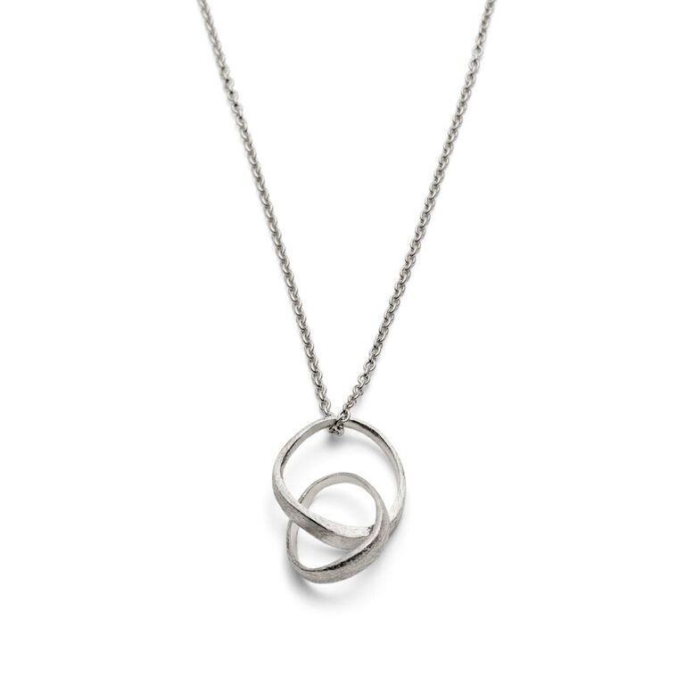 Triangle Loop Necklace Silver