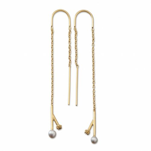 Twig Pearl Hanger Gold Plated