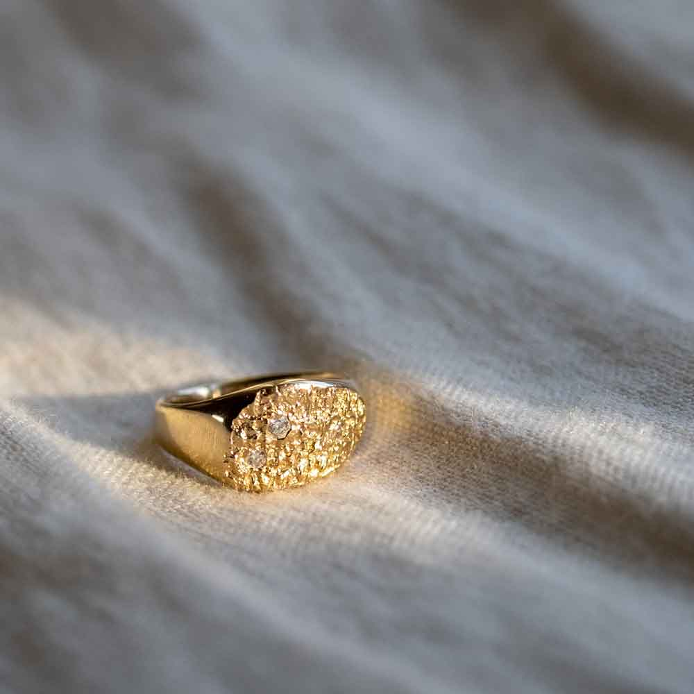 Continent Diamond Ring 14kt Gold