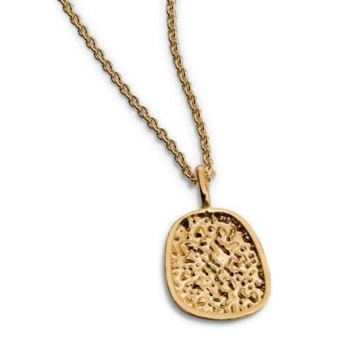 Sparkling Edge Pendant Gold Plated