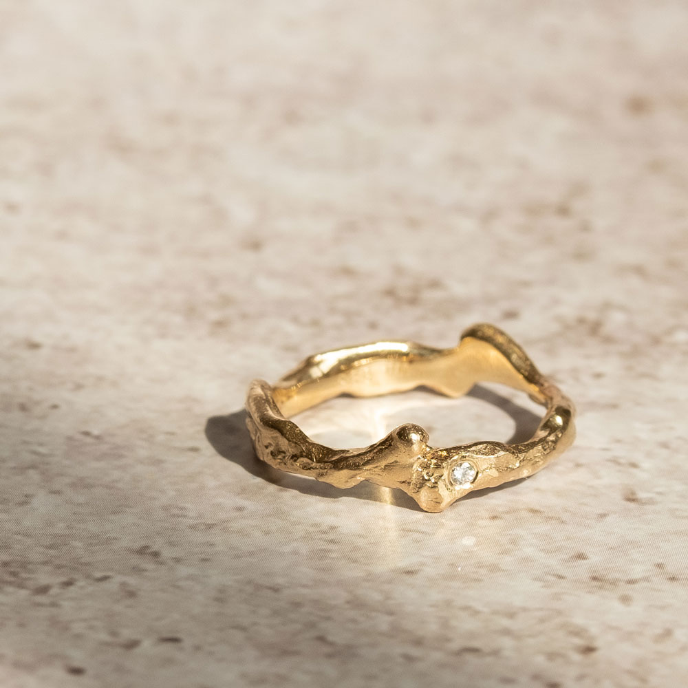 Twig Diamond Ring